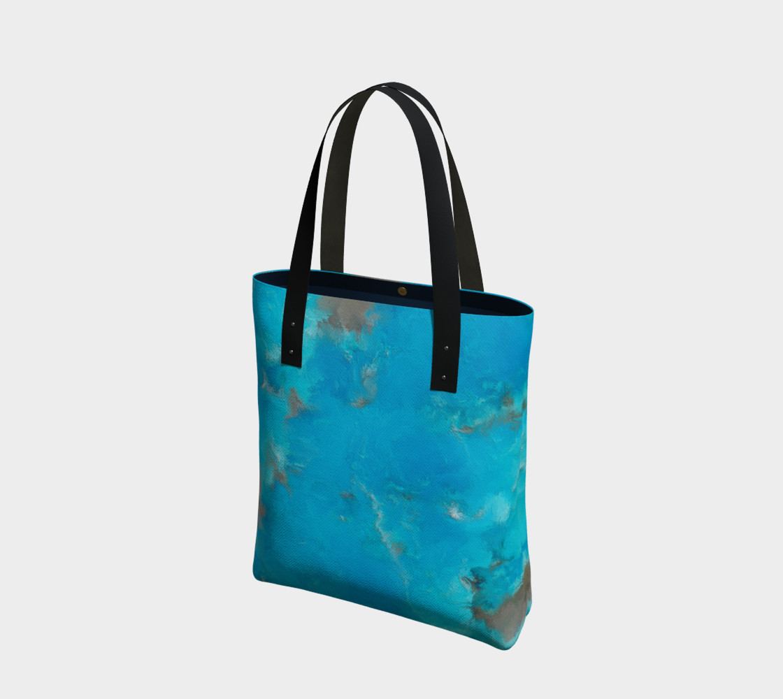 Blue Turquoise Tote Bag preview #1