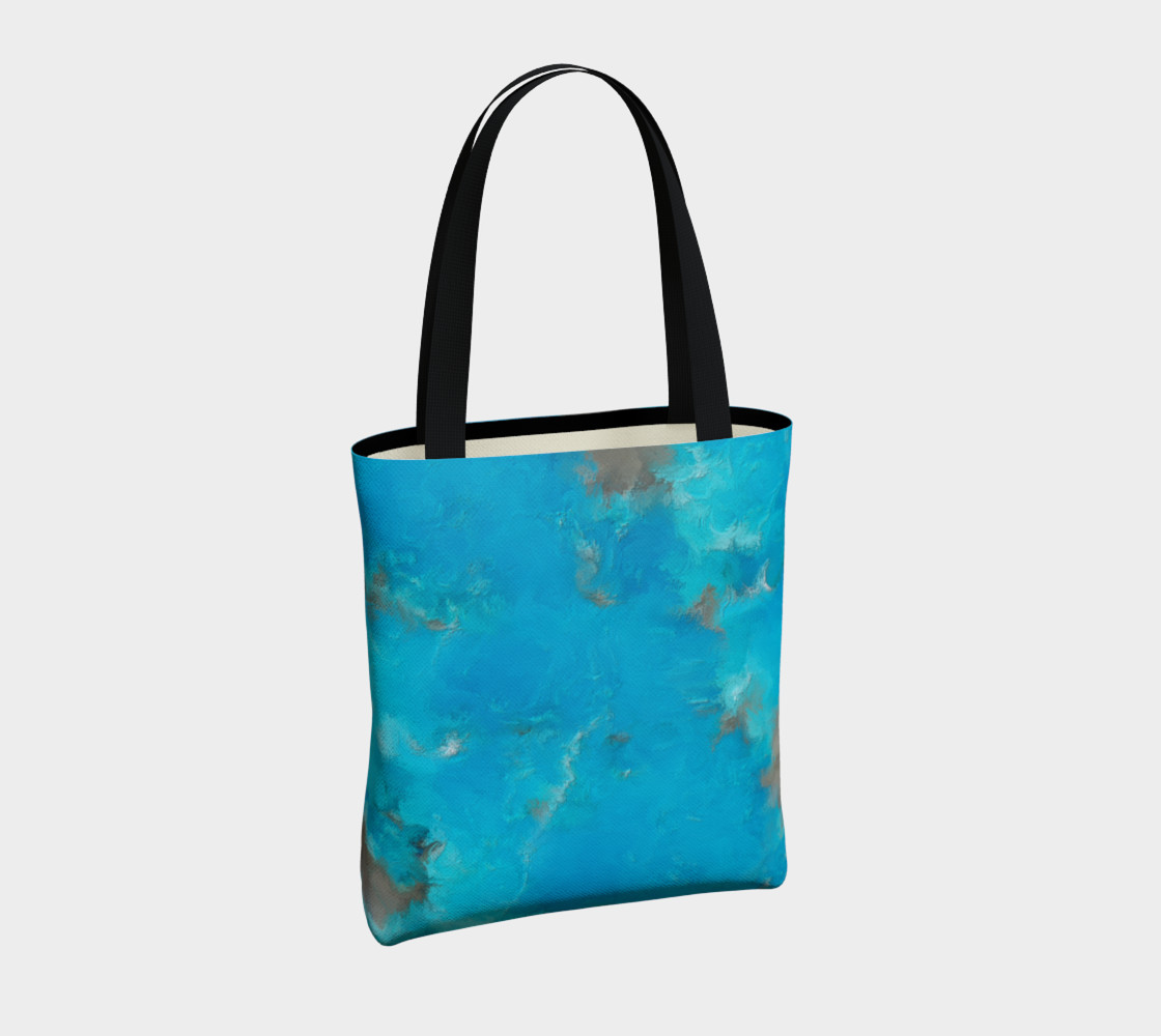 Blue Turquoise Tote Bag preview #4