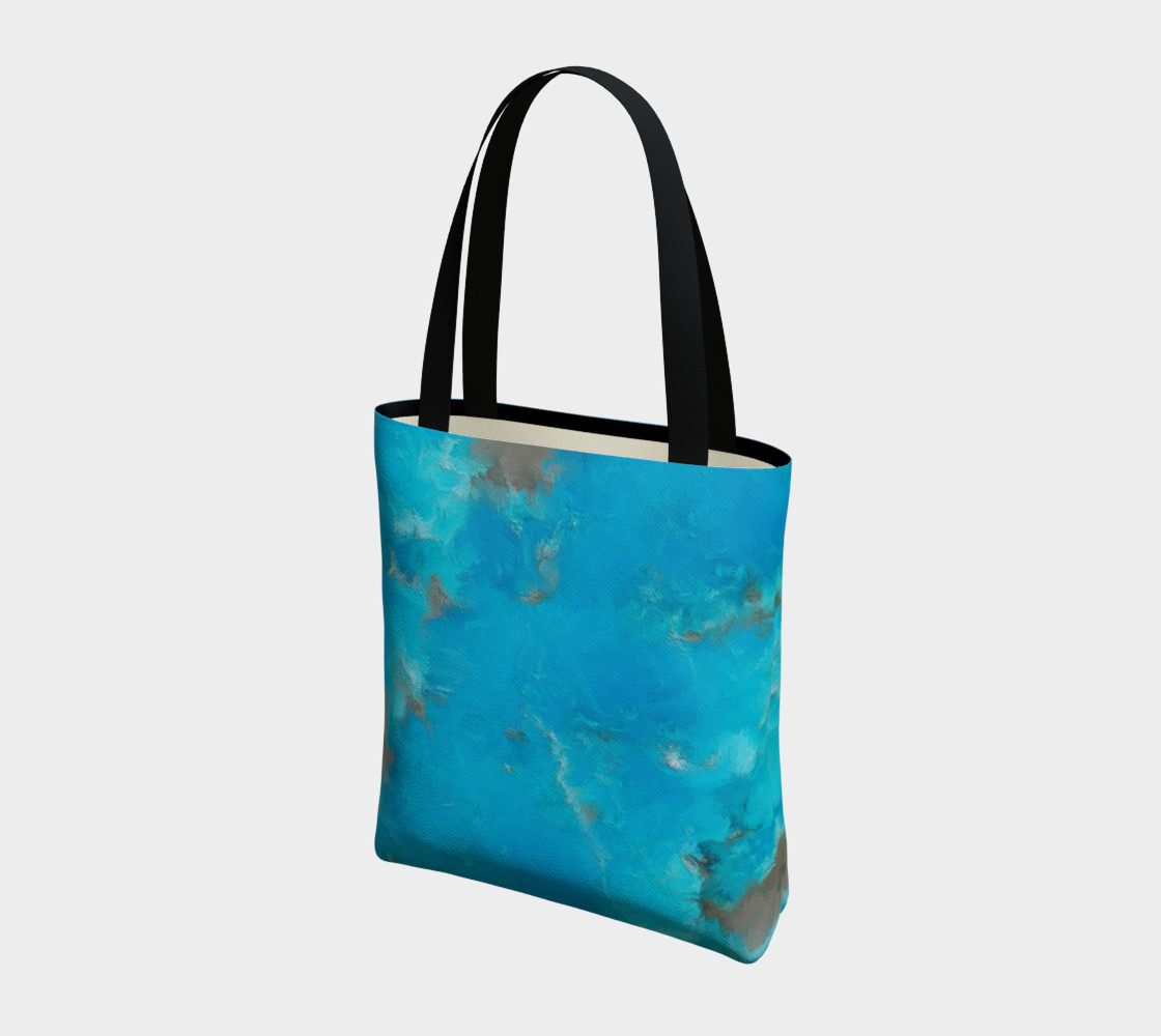 Blue Turquoise Tote Bag preview #3