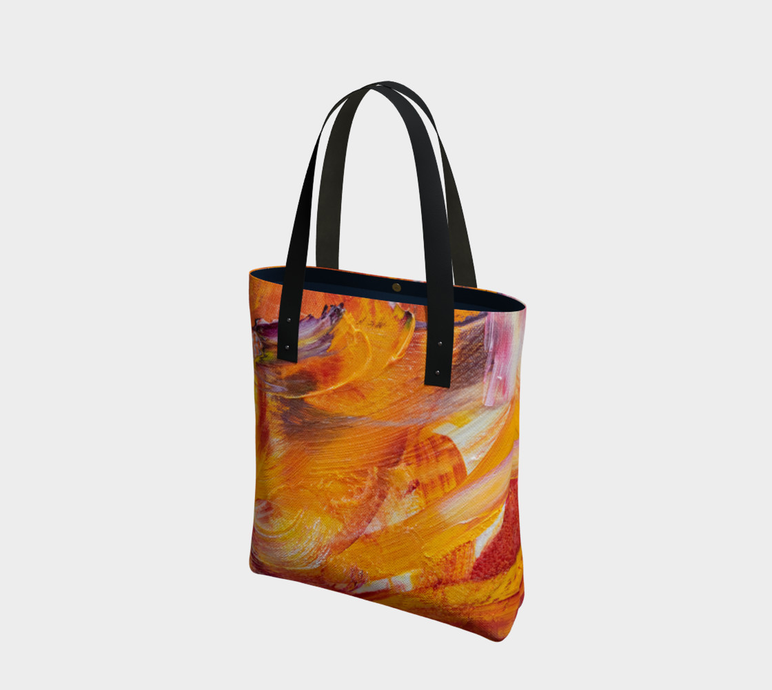 Aperçu de Orange Julie Tote Bag #1