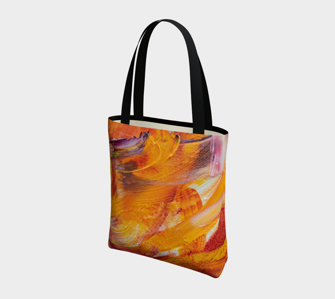Aperçu de Orange Julie Tote Bag #3