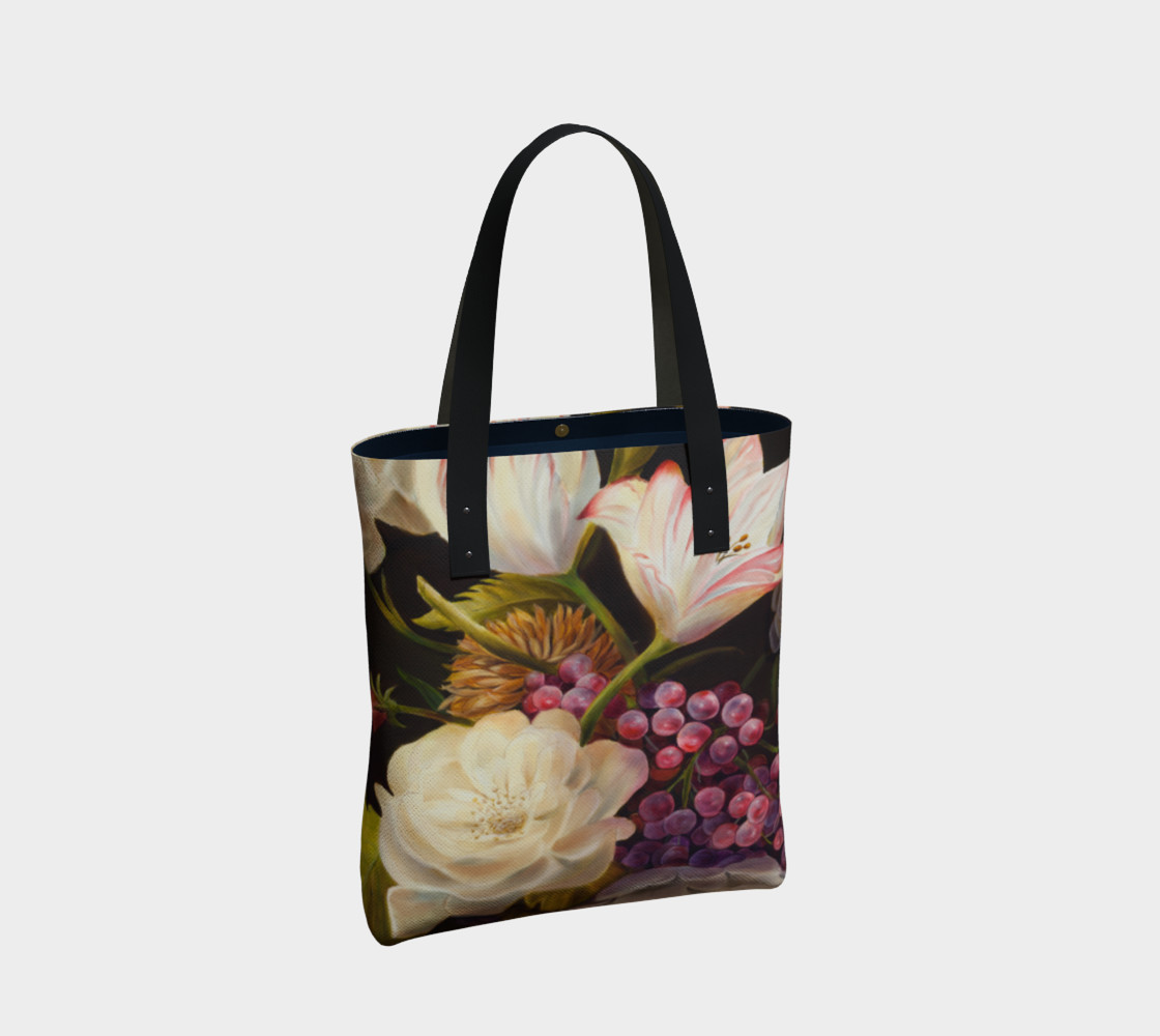 Winter Floral Tote Bag preview #2
