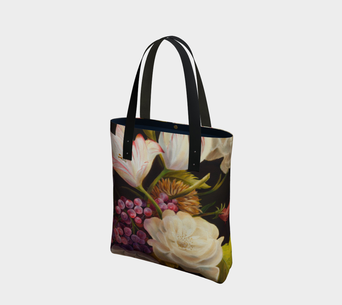 Winter Floral Tote Bag preview #1