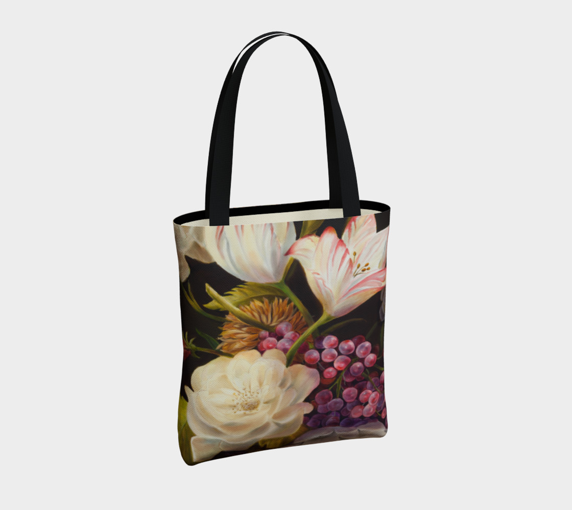 Winter Floral Tote Bag preview #4