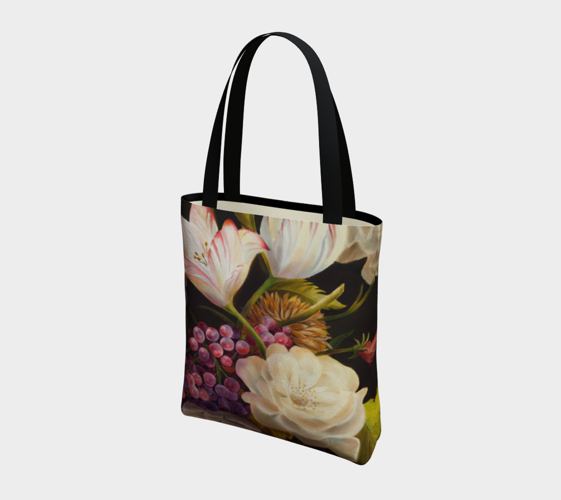 Winter Floral Tote Bag preview #3
