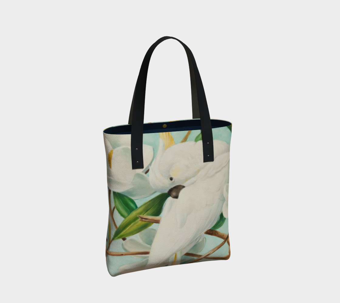 Parrot With Magnolias Tote Bag preview #2