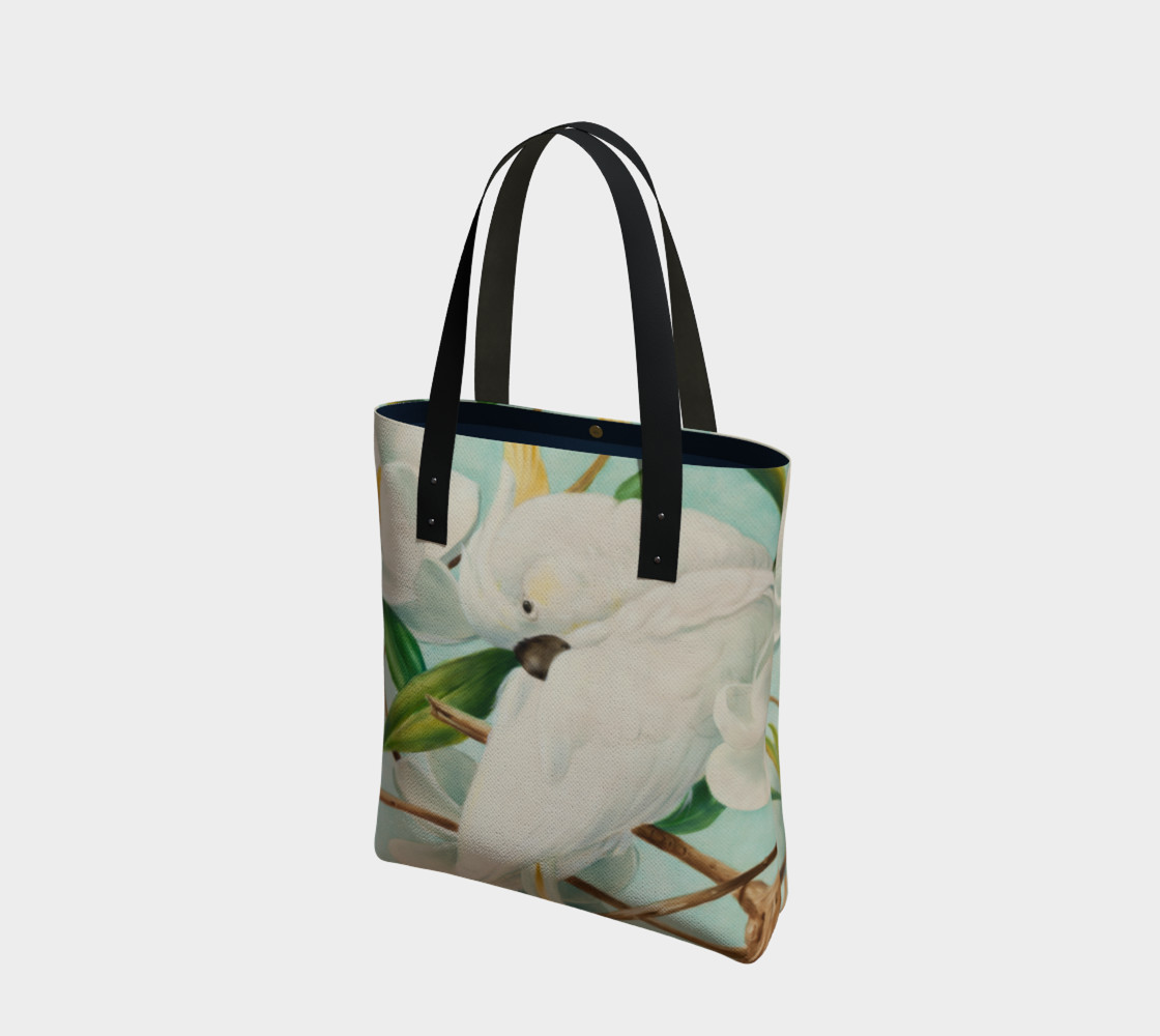 Parrot With Magnolias Tote Bag preview #1
