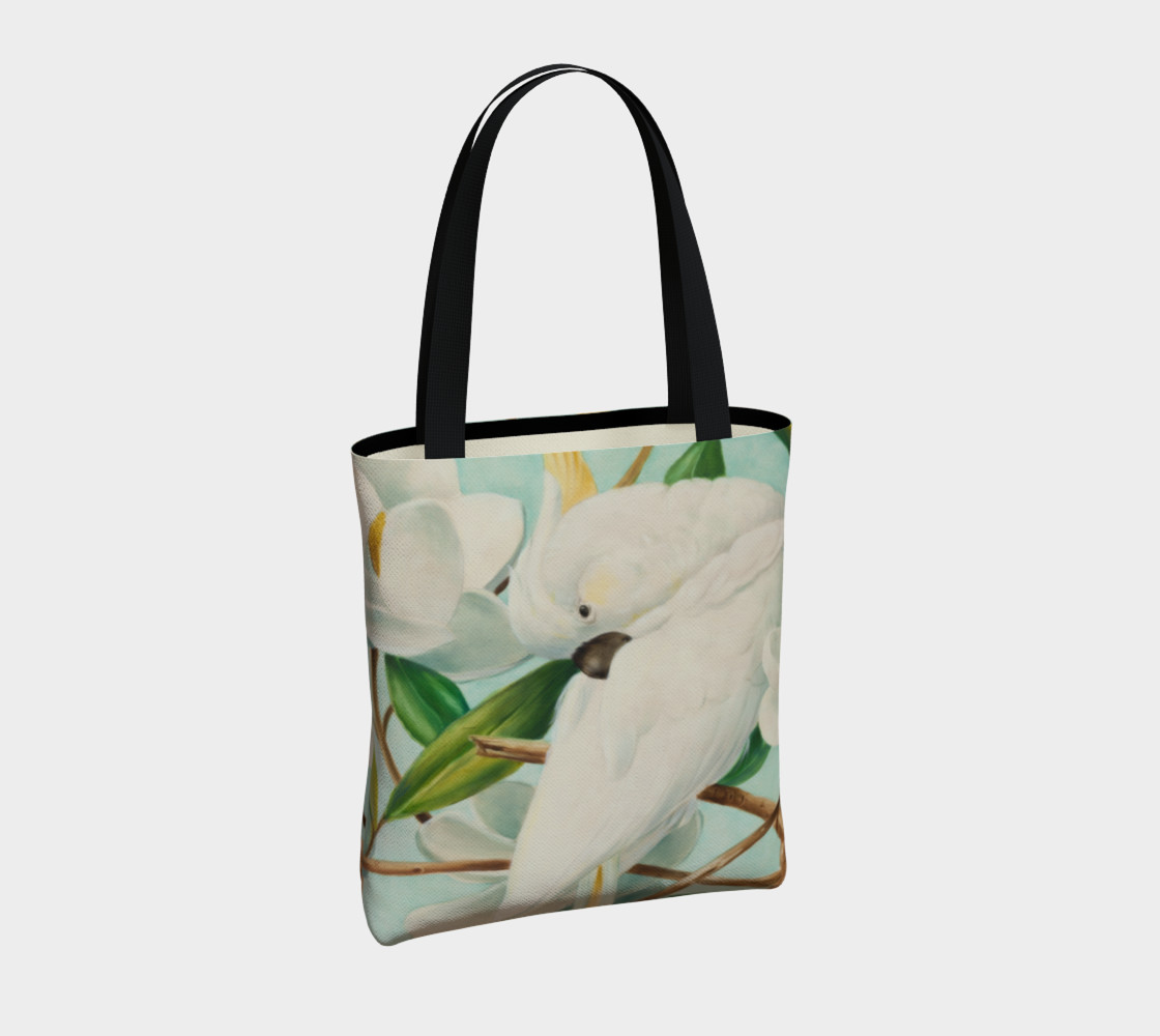 Parrot With Magnolias Tote Bag preview #4
