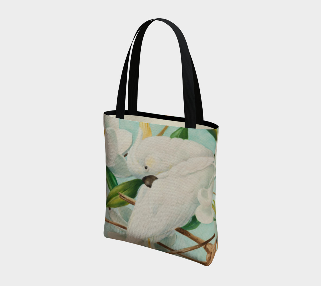Parrot With Magnolias Tote Bag preview #3