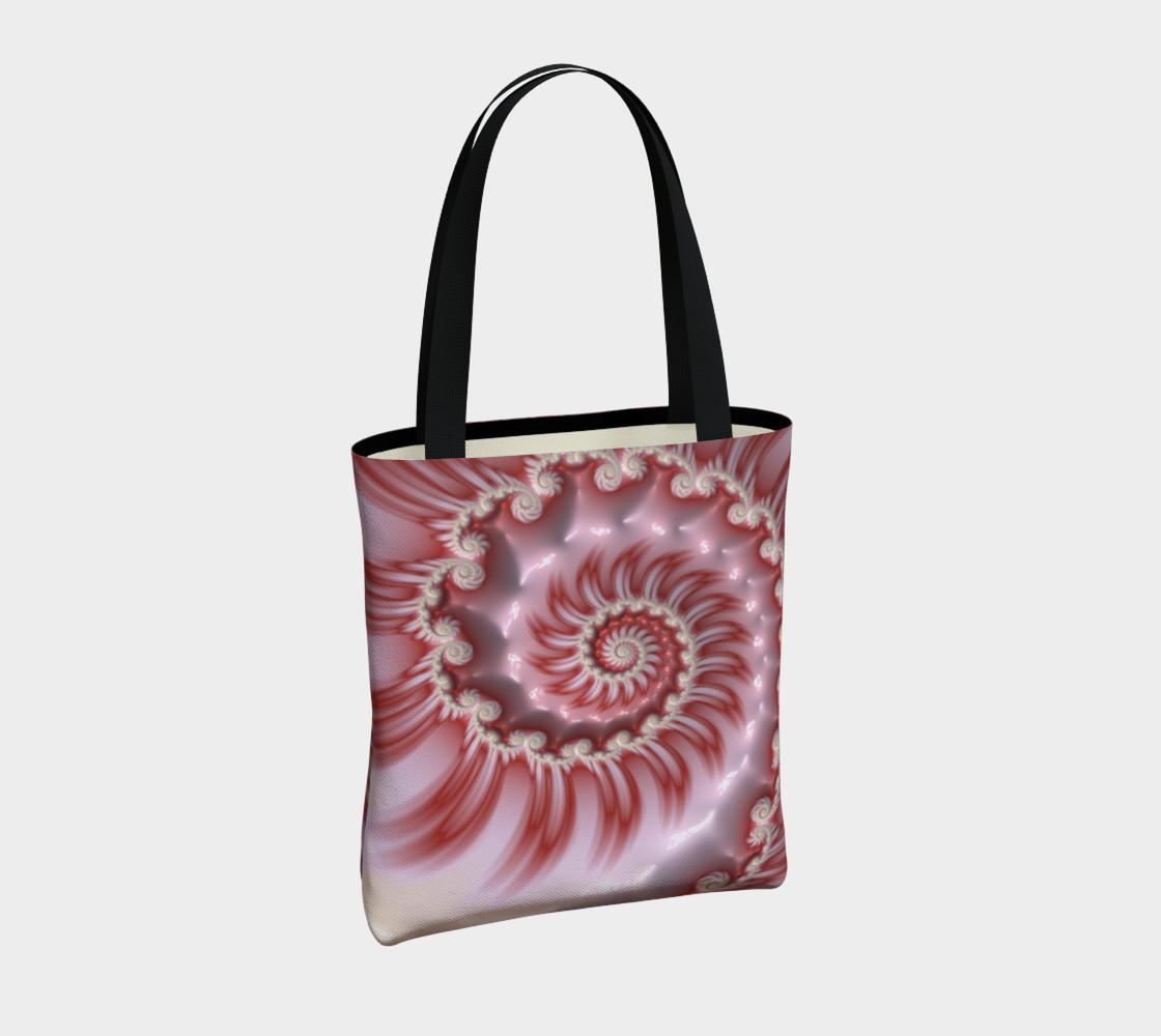 Aperçu de Candy Cane Striped Tote Bag #4