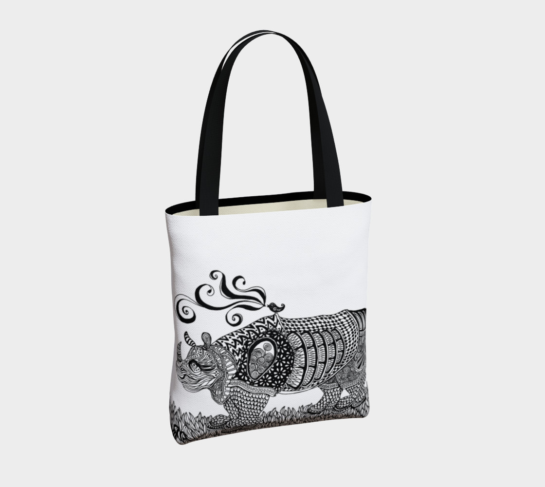 Deco Rhino tote preview #4