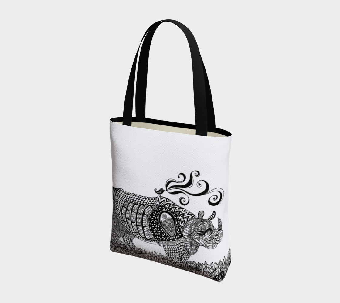 Deco Rhino tote preview #3