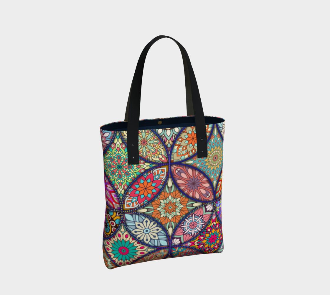 Vibrant Mandalas Tote Bag preview #2