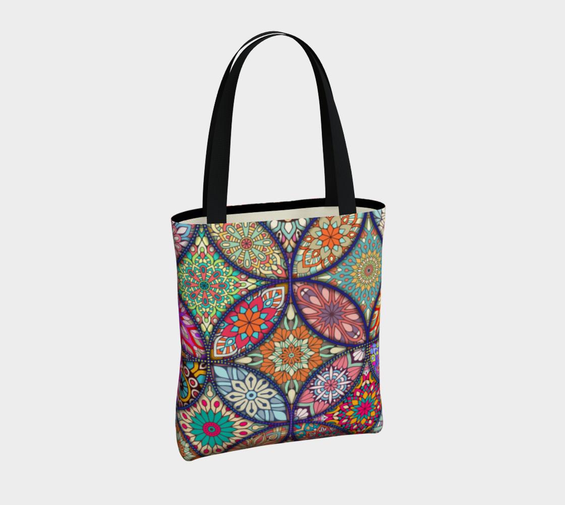 Vibrant Mandalas Tote Bag preview #4