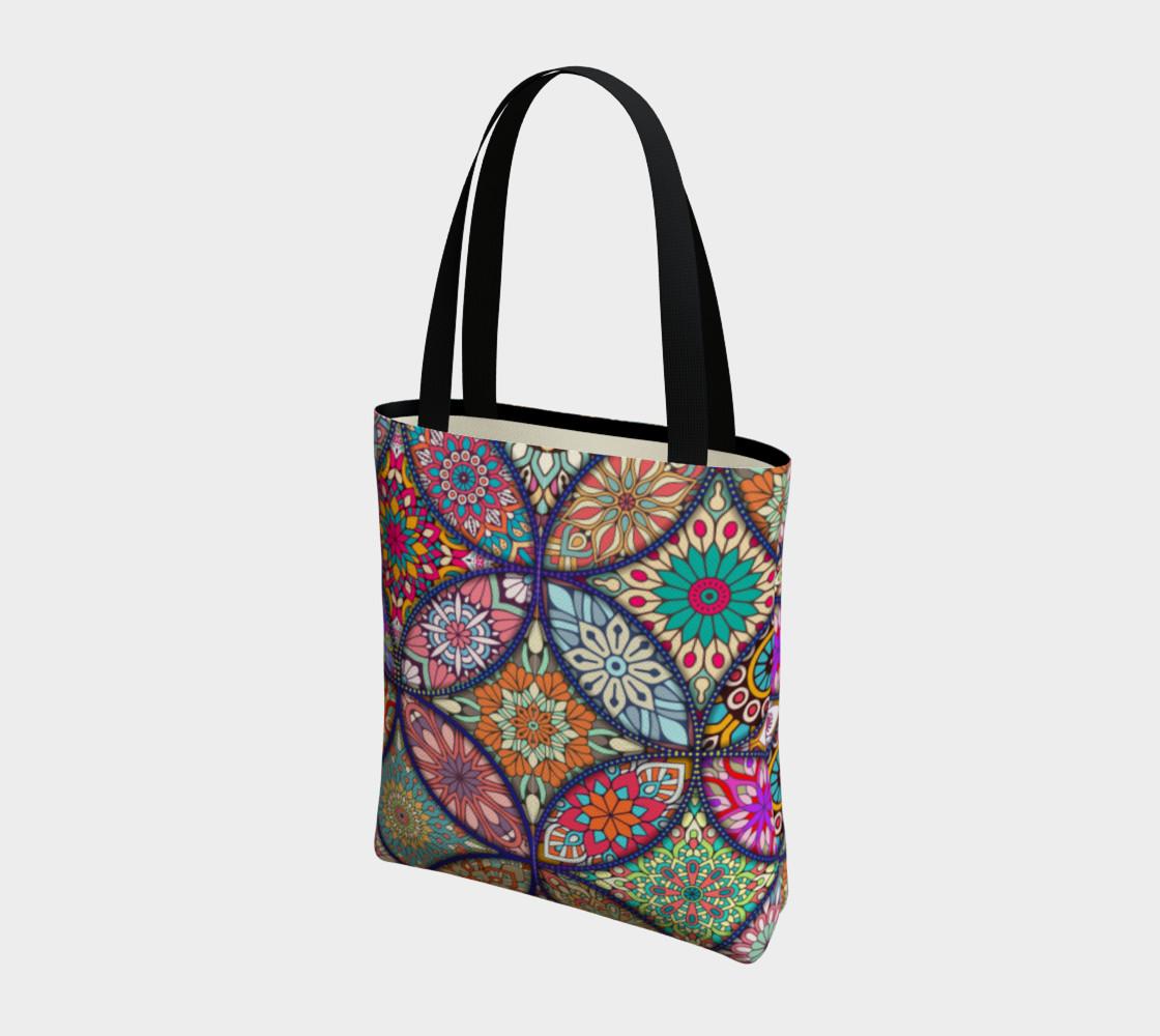 Vibrant Mandalas Tote Bag preview #3