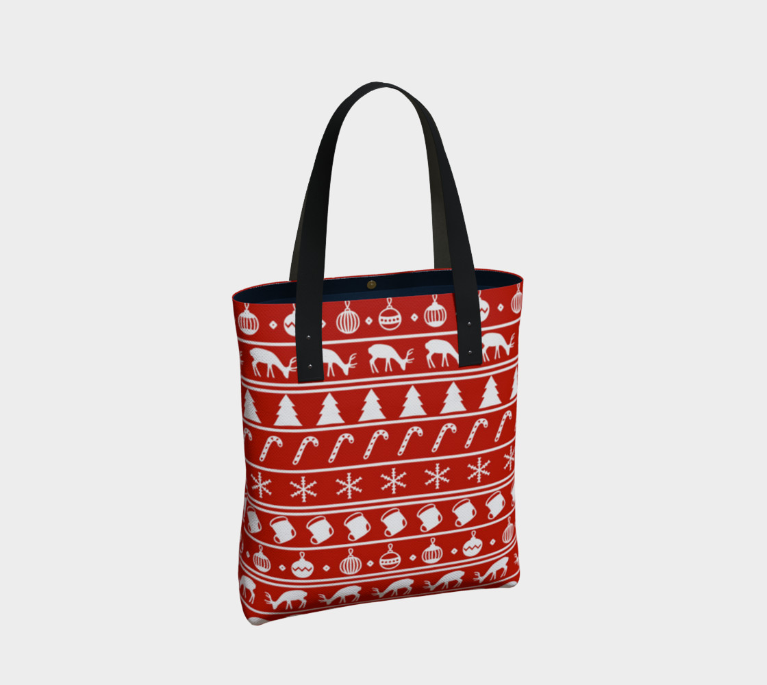 Ugly Christmas Sweater Tote Bag preview #2