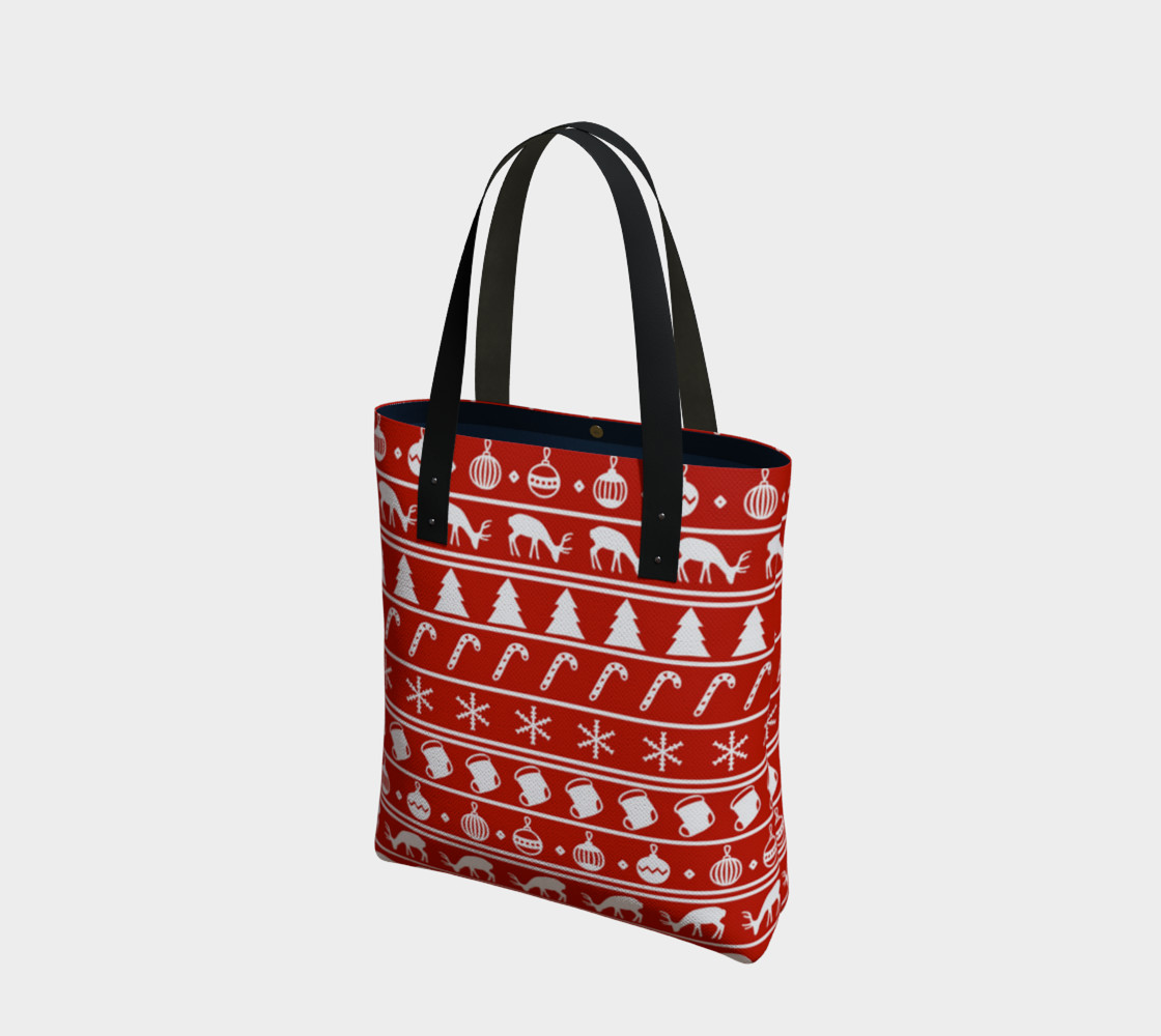 Ugly Christmas Sweater Tote Bag preview #1