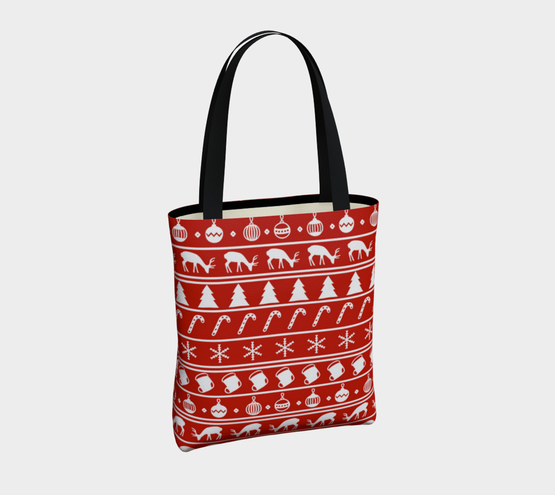 Ugly Christmas Sweater Tote Bag preview #4