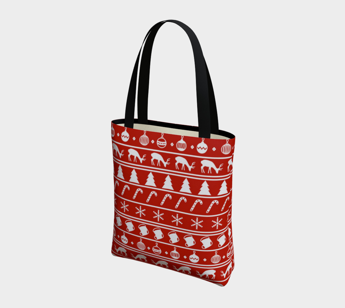 Ugly Christmas Sweater Tote Bag preview #3