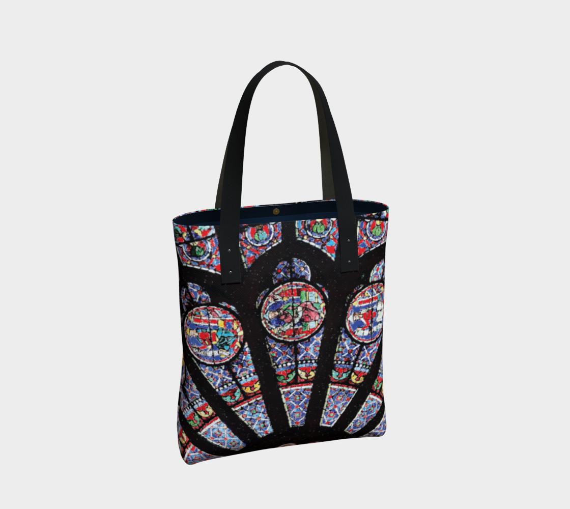 Rose South Window, Notre Dame Paris Tote Bag preview #2