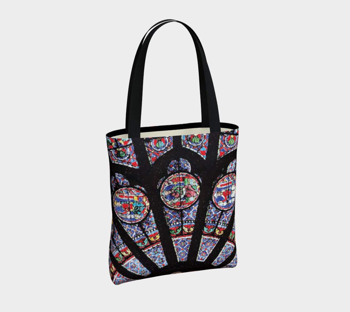 Rose South Window, Notre Dame Paris Tote Bag preview #4