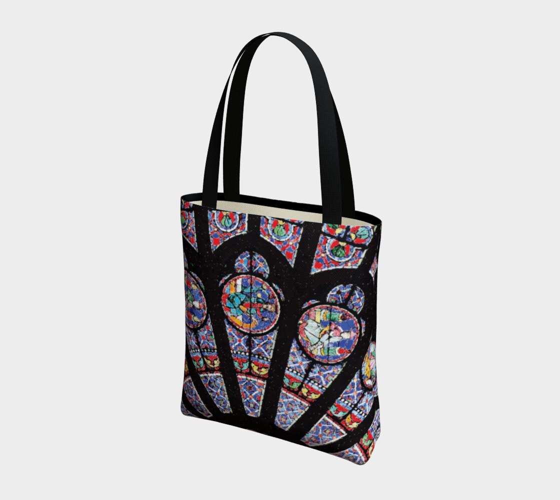 Rose South Window, Notre Dame Paris Tote Bag preview #3