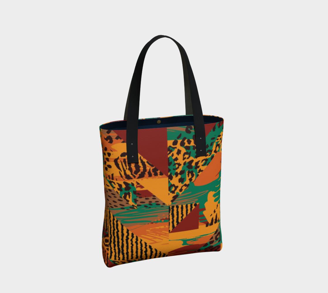 Abstract Safari Print Tote Bag preview #2