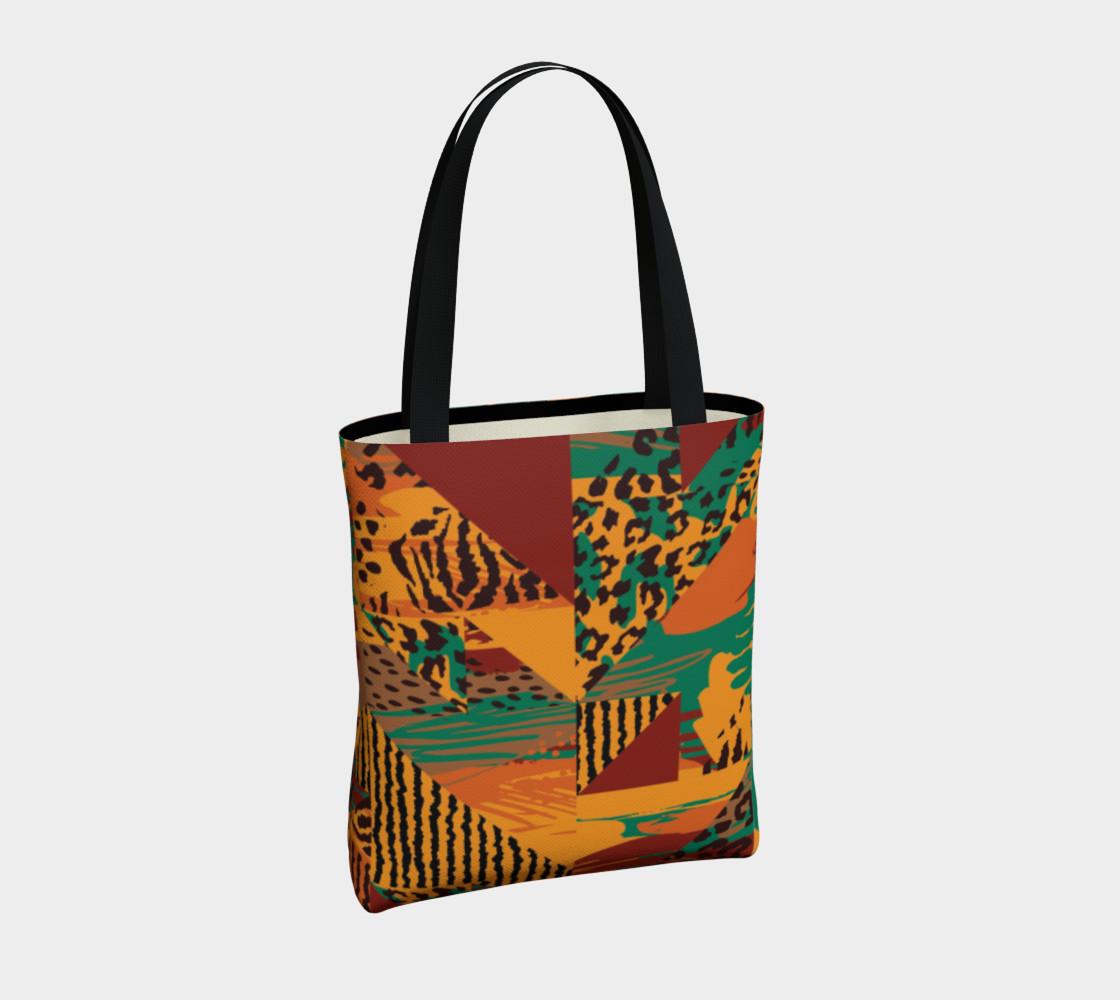Abstract Safari Print Tote Bag preview #4