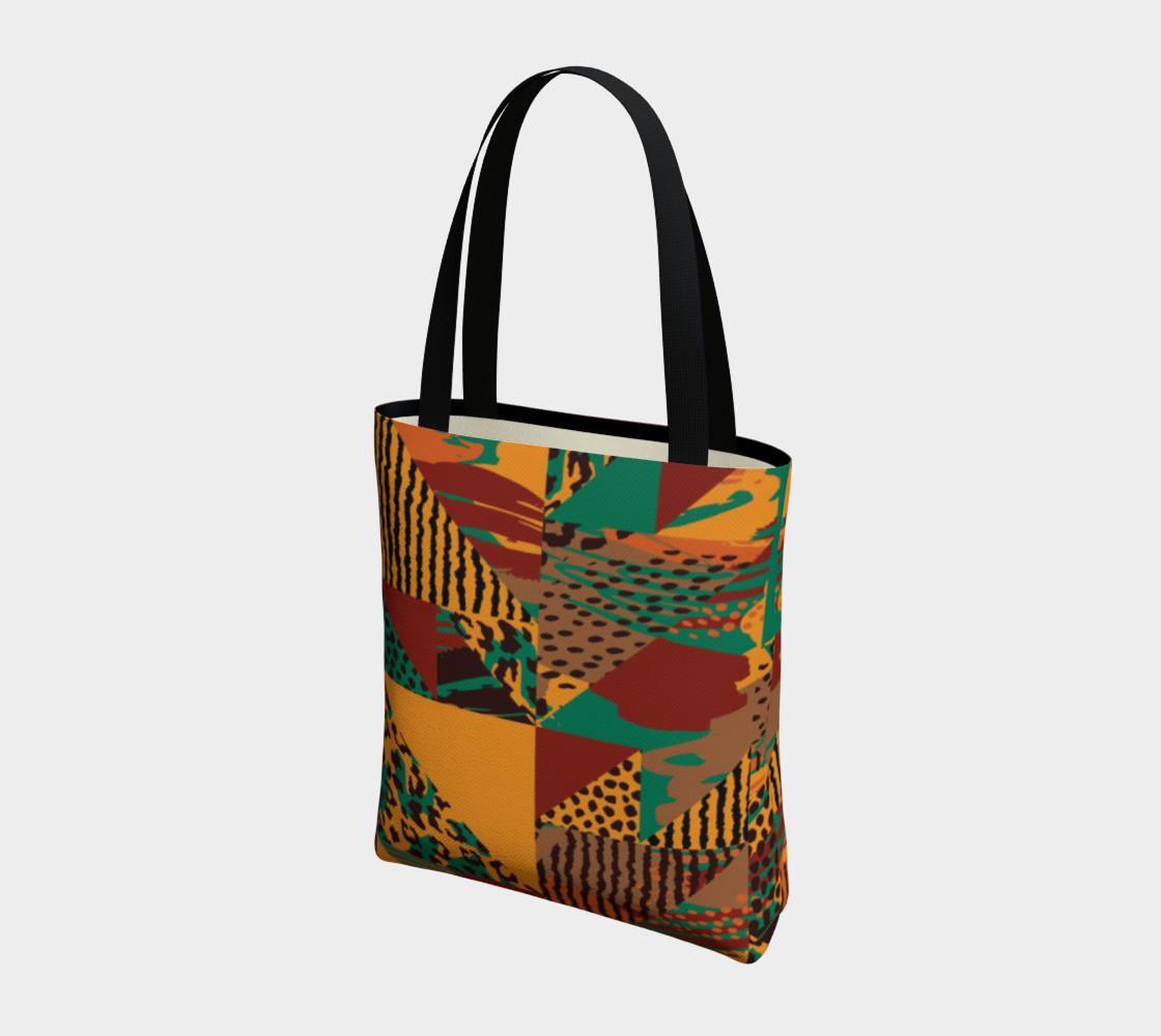 Abstract Safari Print Tote Bag preview #3