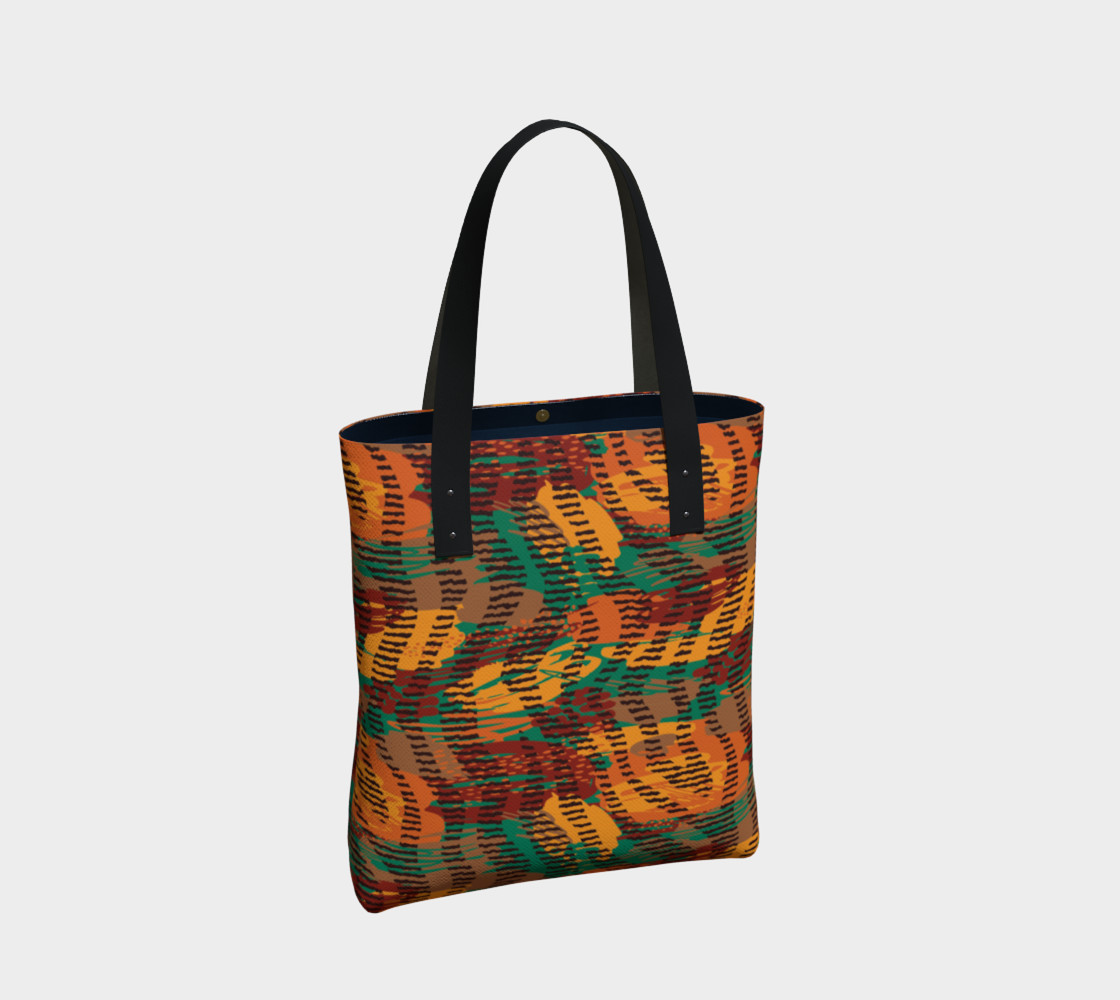 Abstract Animal Stripes Tote Bag preview #2