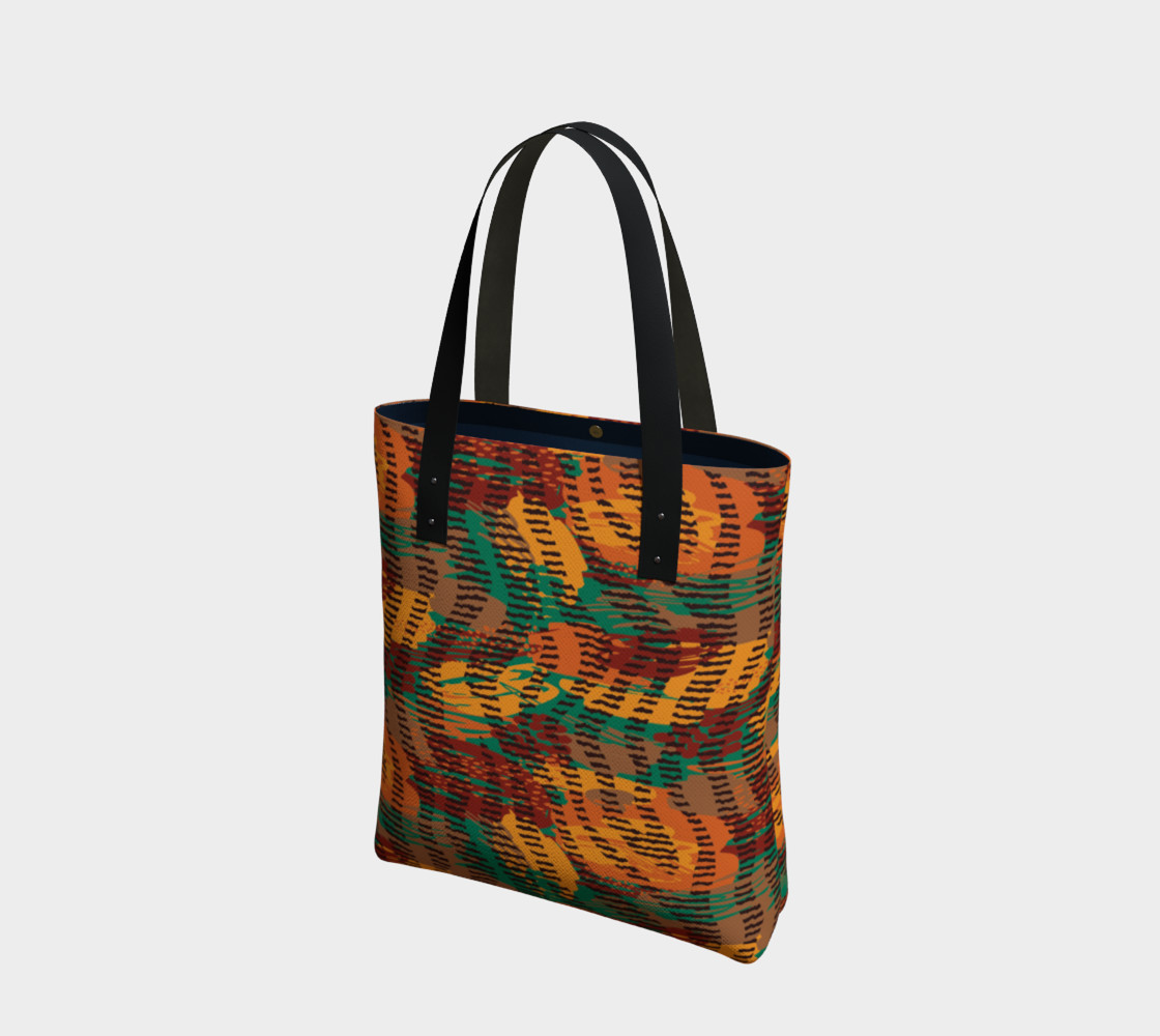 Abstract Animal Stripes Tote Bag preview #1