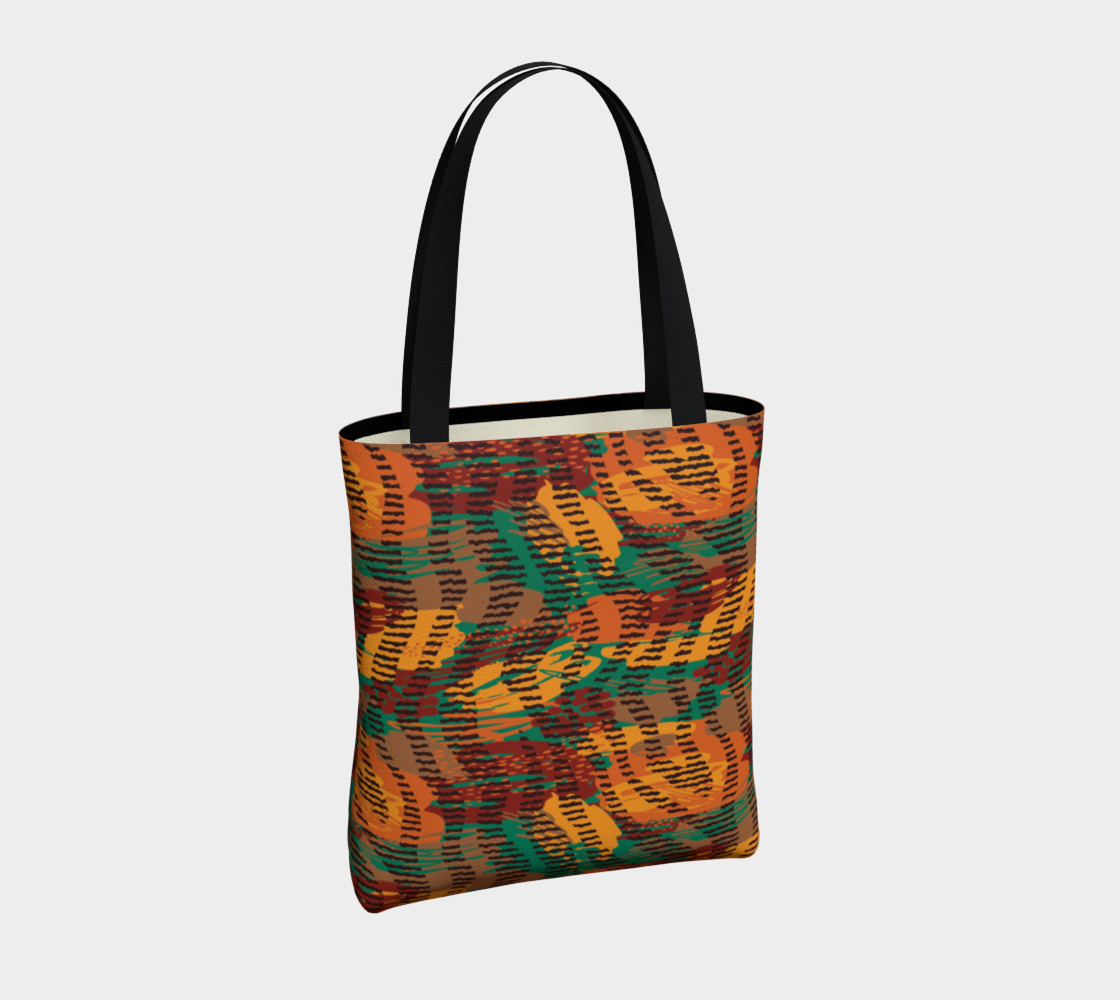 Abstract Animal Stripes Tote Bag preview #4