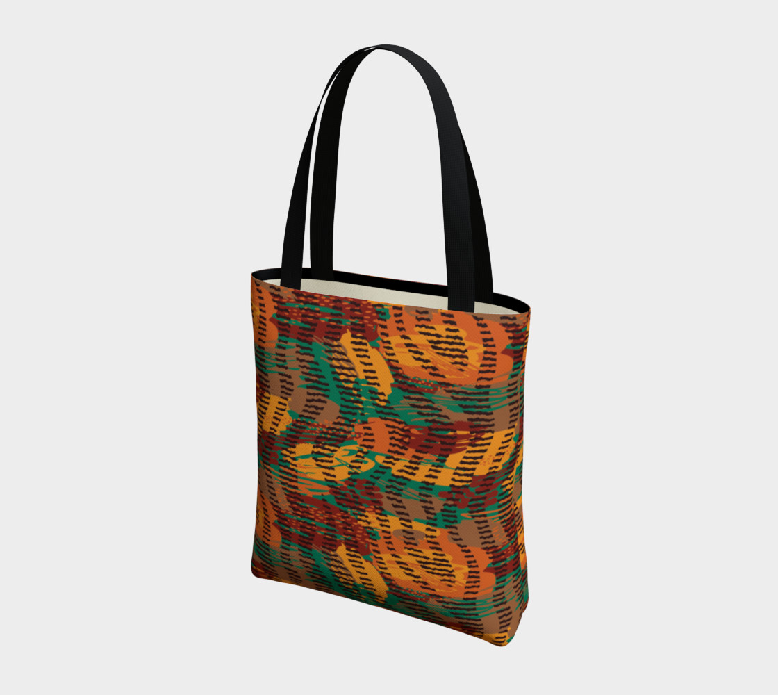 Abstract Animal Stripes Tote Bag preview #3