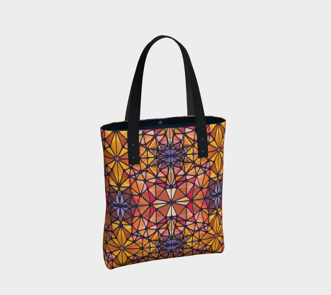 Amber Kaleidoscope Tote Bag preview #2