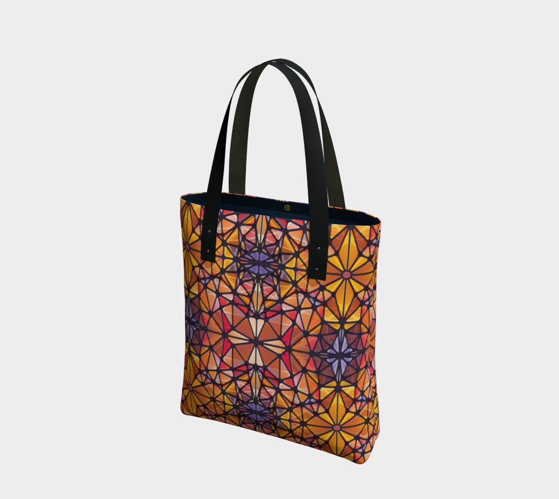 Amber Kaleidoscope Tote Bag preview #1