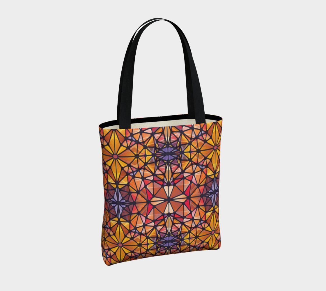 Amber Kaleidoscope Tote Bag preview #4