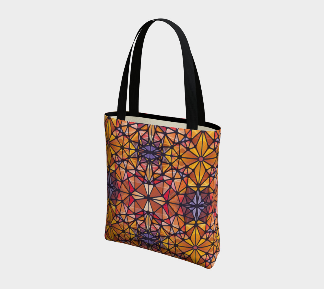Amber Kaleidoscope Tote Bag preview #3