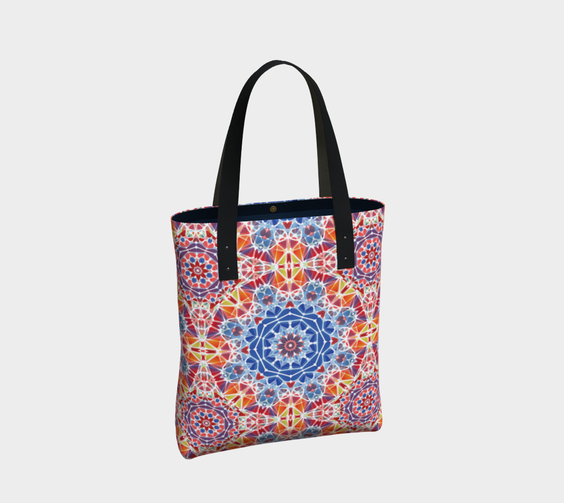 Blue and Orange Kaleidoscope Tote Bag preview #2