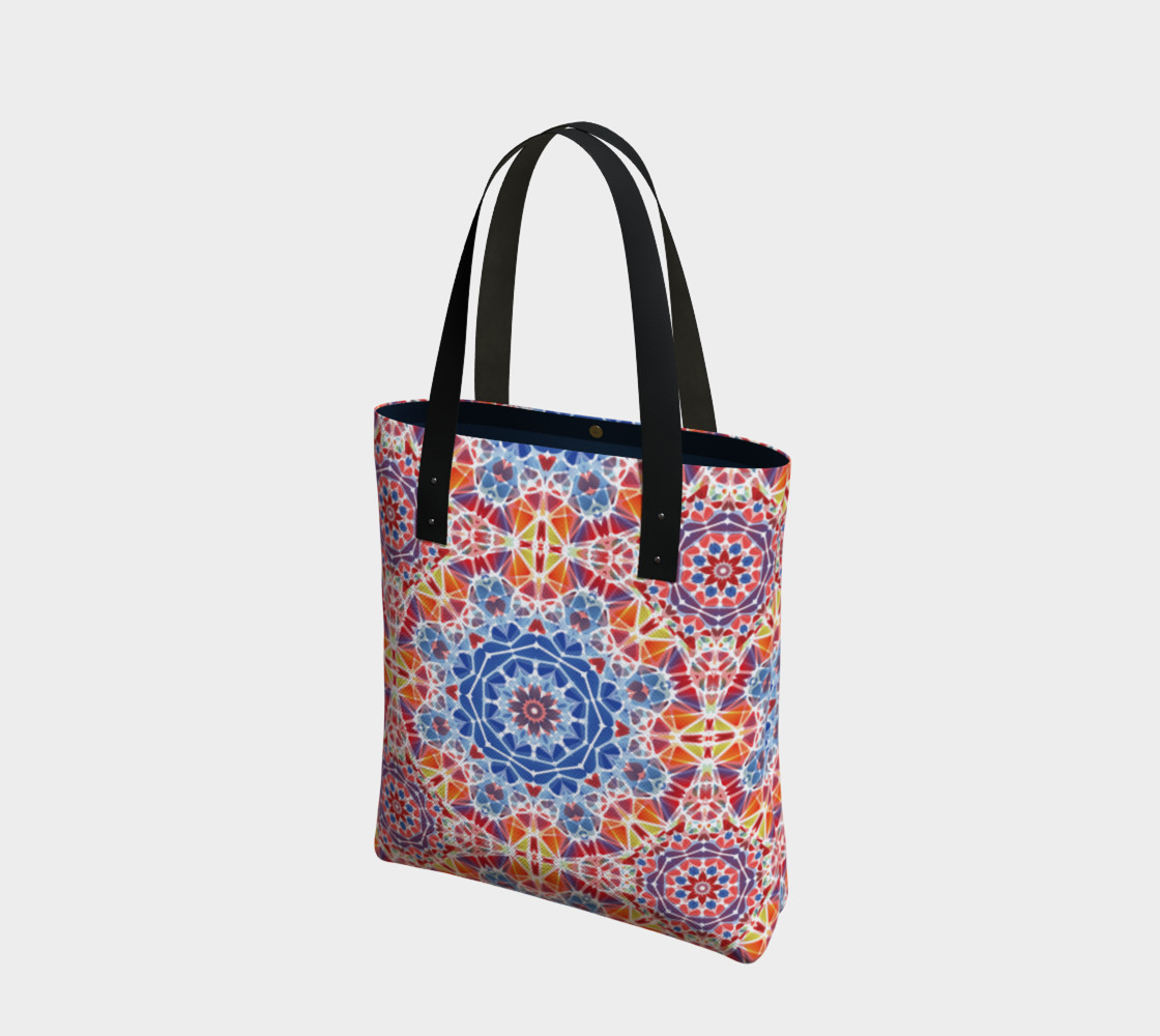 Blue and Orange Kaleidoscope Tote Bag preview #1