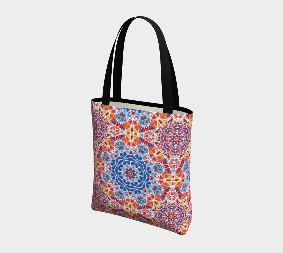 Blue and Orange Kaleidoscope Tote Bag preview #3
