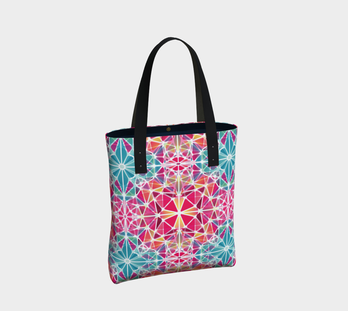 Pink and Blue Kaleidoscope Tote Bag preview #2