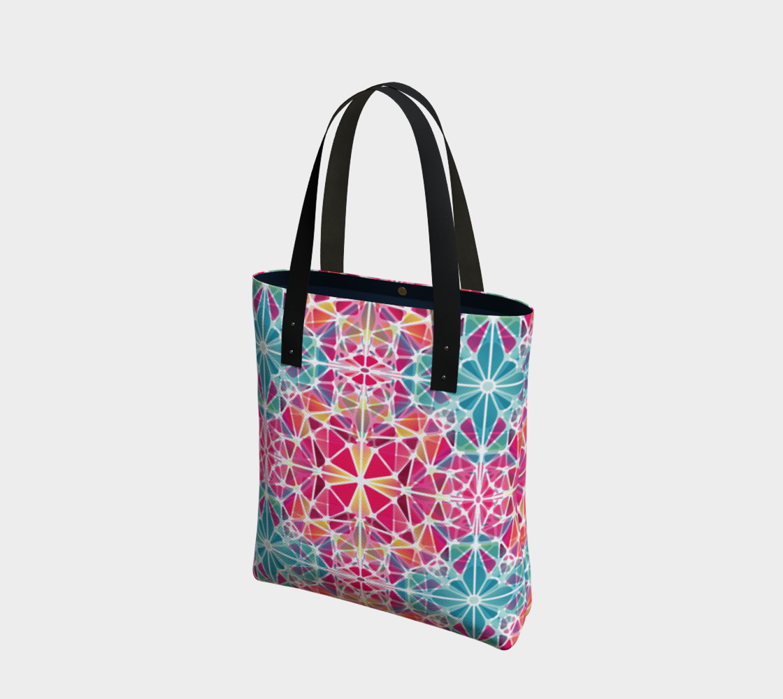 Pink and Blue Kaleidoscope Tote Bag preview #1