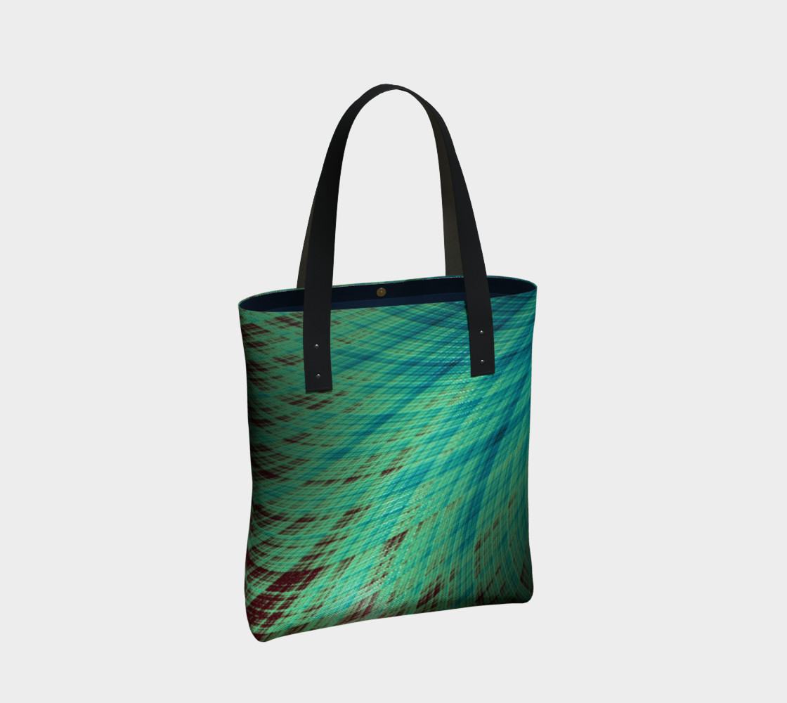 Run Off - Teal and Brown Tote Bag preview #2