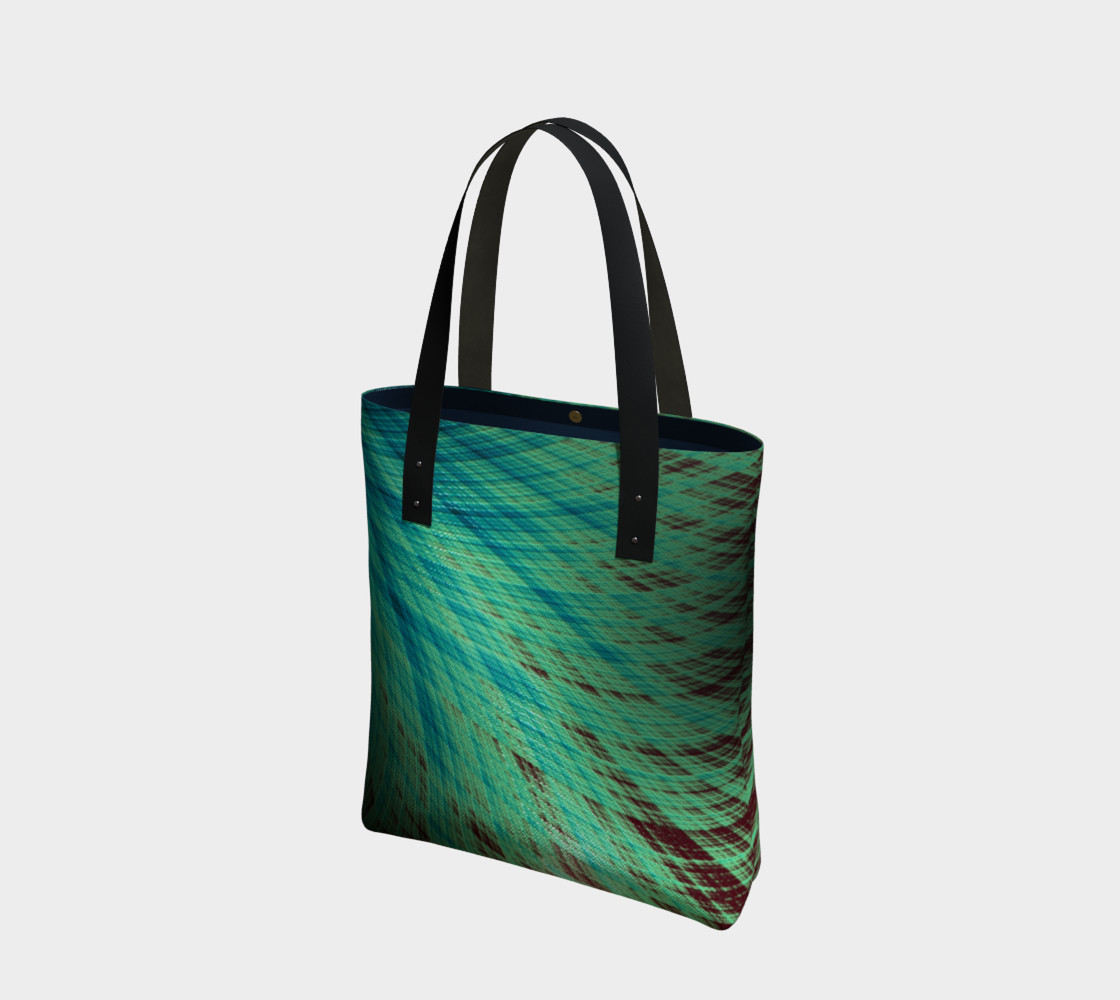 Run Off - Teal and Brown Tote Bag preview #1