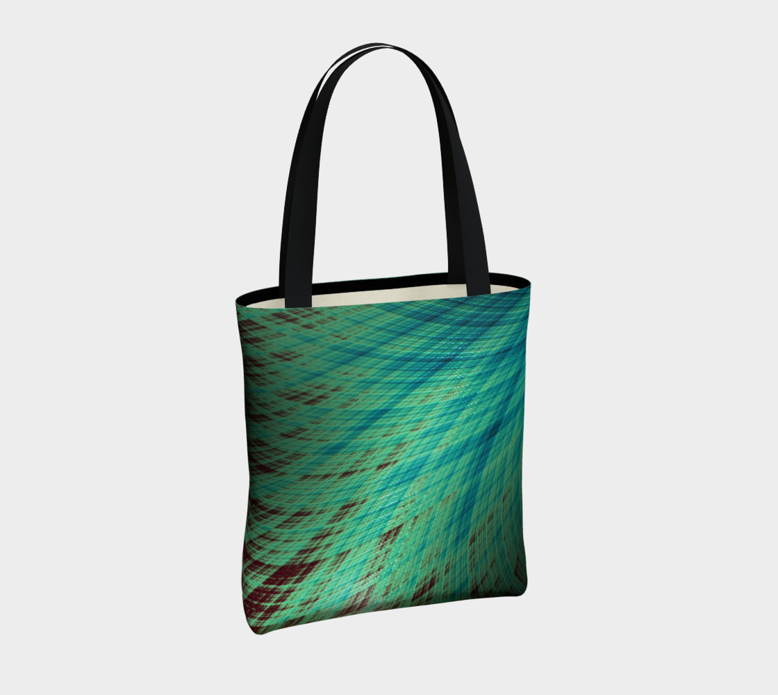 Run Off - Teal and Brown Tote Bag preview #4