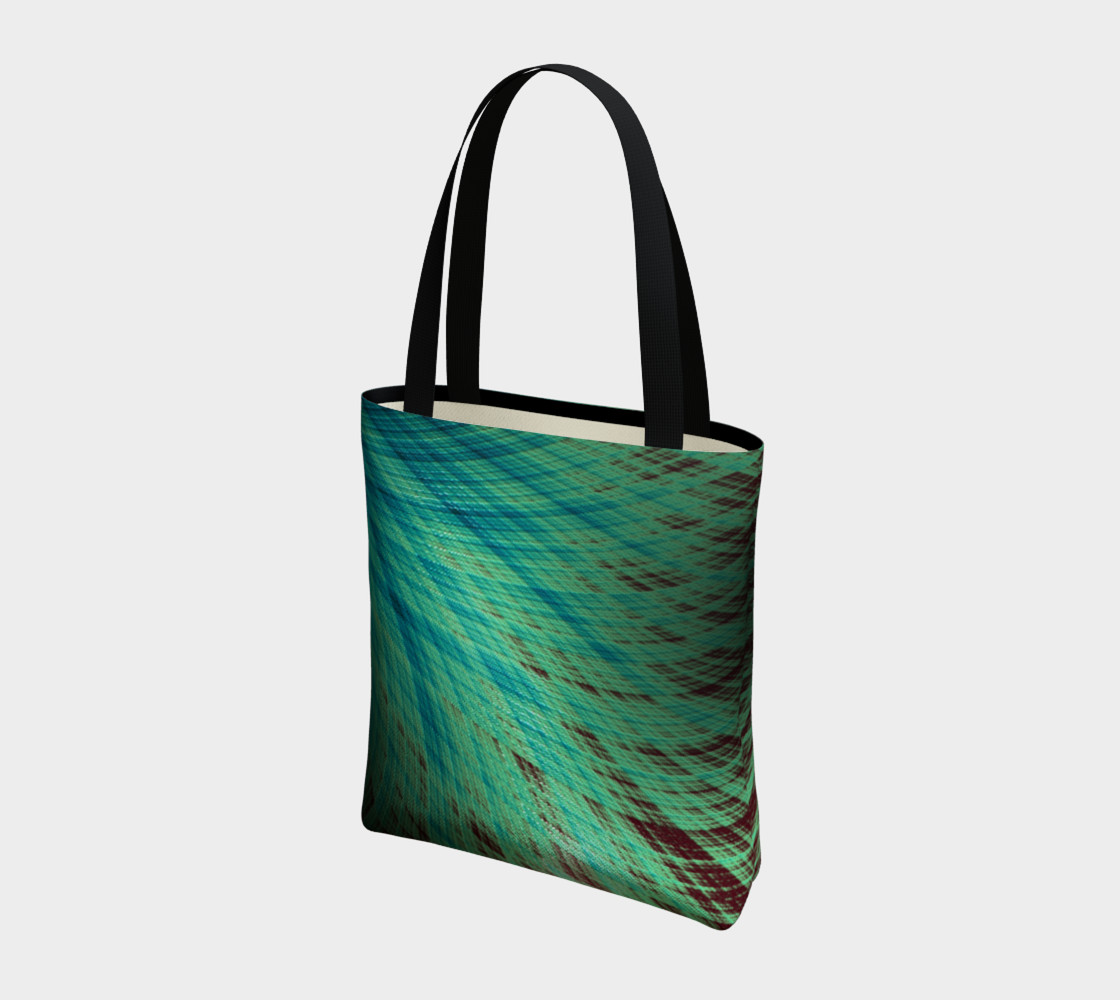 Run Off - Teal and Brown Tote Bag preview #3