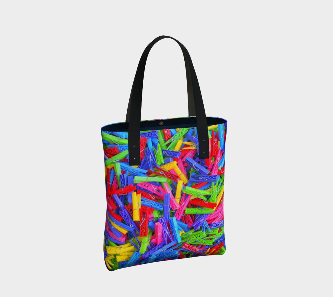 Aperçu de Épingles à linge / Clothespins Tote Bag #2