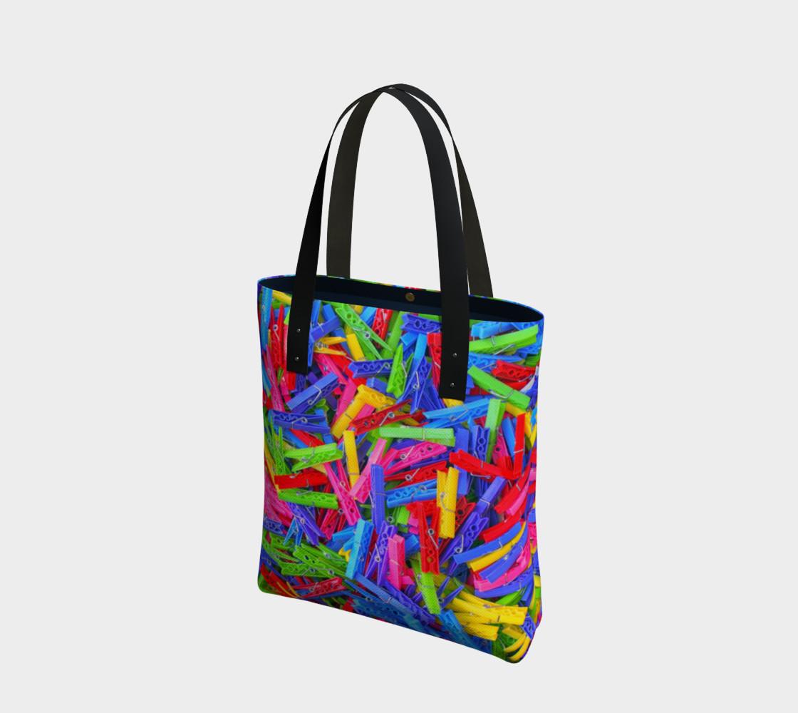 Aperçu de Épingles à linge / Clothespins Tote Bag #1