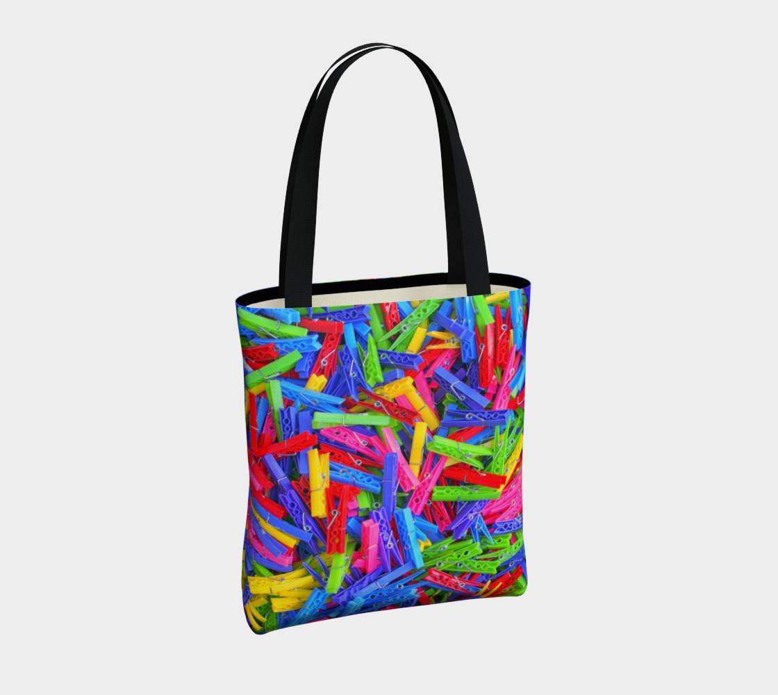 Aperçu de Épingles à linge / Clothespins Tote Bag #4