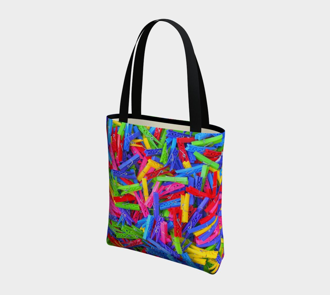 Aperçu de Épingles à linge / Clothespins Tote Bag #3